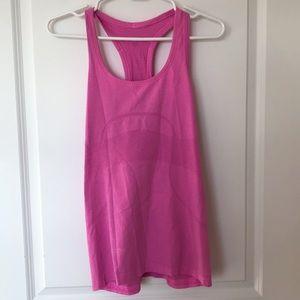 Pink Lululemon Athletica Workout Tank Top